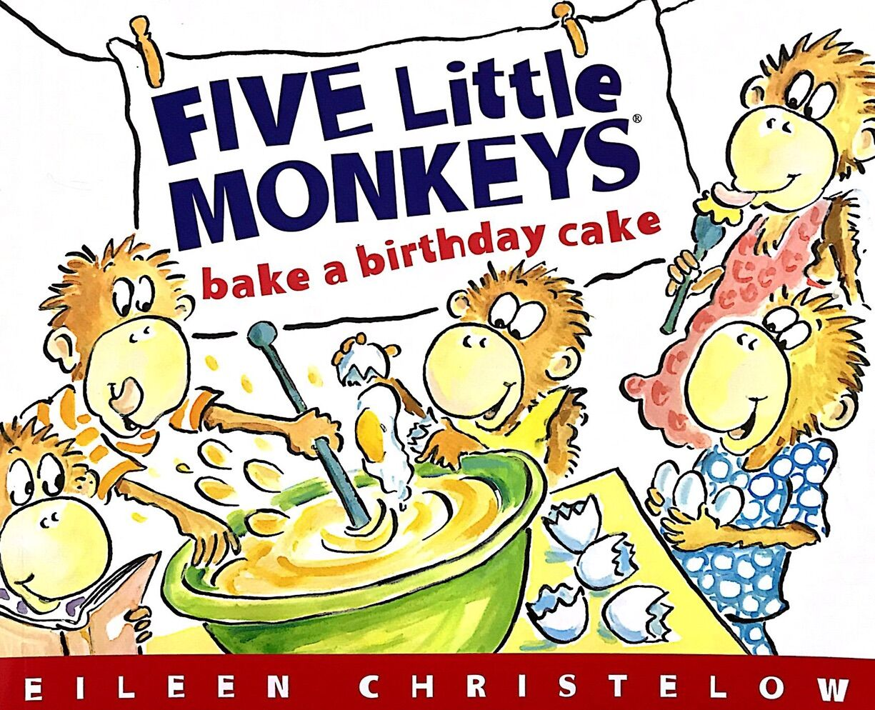 Five Little Monkeys Bake a Birthday Cake五只小猴子(平装)