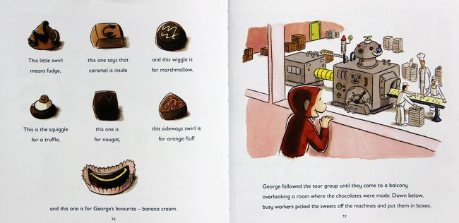 Curious George Goes to a Chocolate Factory 好奇小猴乔治去巧克力工厂